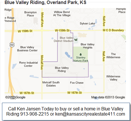 Blue Valley Riding Map Stilwell KS