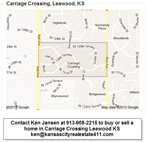 carriage crossing map leawood ks entry monument