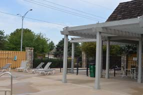 carriage crossing neighborhood cabana by pool leawood ks