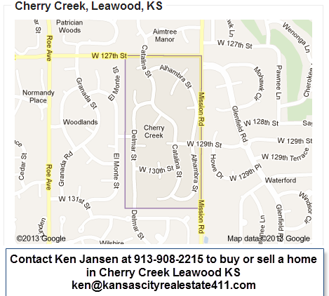 Cherry Creek map Leawood KS