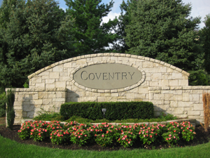 Coventry Overland Park KS entry monument