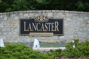 Lancaster Neighborhood Monument in Overland Park Kansas